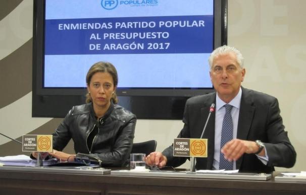 """El PP afirma que en el debate de enmiendas del Presupuesto de Aragón de 2017 """"se ha aplicado el rodillo"""""""