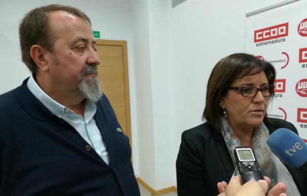 """UGT aboga por que Extremadura esté """"todo el día en la calle"""" para exigir lo que le """"corresponde"""" en materia ferroviaria"""