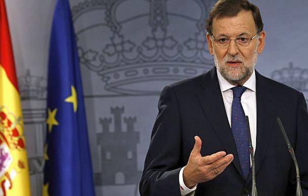 Rajoy, en el Palacio de la Moncloa