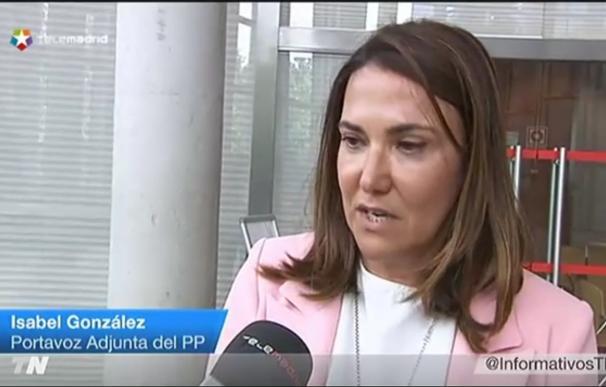 El PP en la Asamblea mantiene que Isabel González no tiene que dimitir como diputada porque no está investigada