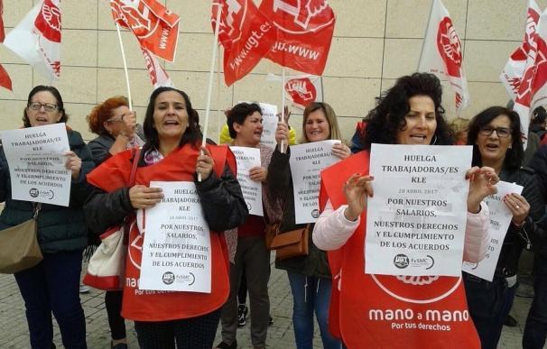 UGT cifra en un 80% el seguimiento de la huelga de las trabajadoras de la empresa Kle en Mallorca