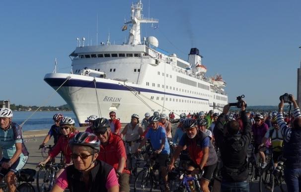 Un crucero de ciclistas alemanes llegará a Cádiz y Algeciras para hacer dos rutas en bicicleta