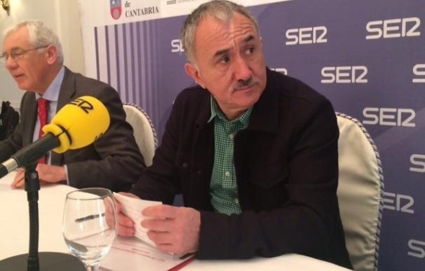 """Álvarez (UGT) sostiene que está """"justificado tomar medidas"""", pero no aclara si está a favor de la moción de censura"""