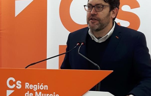 """Ciudadanos corrobora que se abstendrá este sábado para que haya """"gobierno y estabilidad"""" en la Región"""