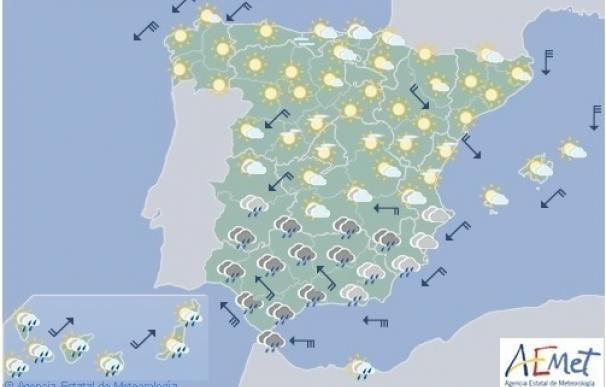 Lluvia, viento y oleaje tendrán en riesgo hoy a una decena de provincias