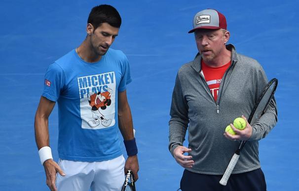 Djokovic rompe con Boris Becker y el entrenador le reprocha su falta de esfuerzo