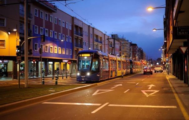 El tranvía ofrecerá un refuerzo especial la noche de Fin de Año
