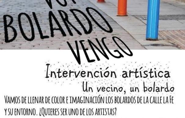 """Las calles de Lavapiés se llenan este viernes de """"color e imaginación"""" con la intervención 'Bolardo voy, bolardo vengo'"""