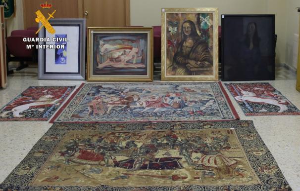 Recuperadas 34 obras de arte, entre ellas un tapiz flamenco del s. XVI, en una operación contra el robo en viviendas