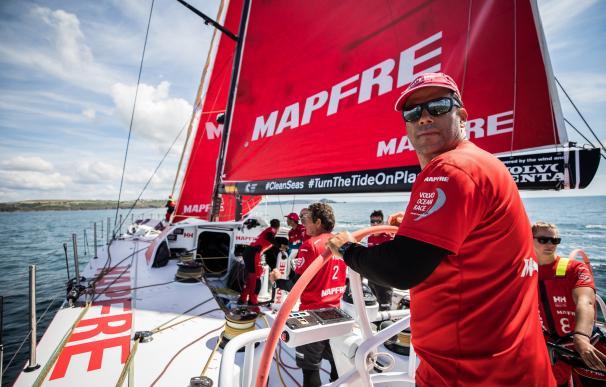 El 'MAPFRE' se impone en la tercera manga de la 'Etapa Cero' de la Volvo Ocean Race