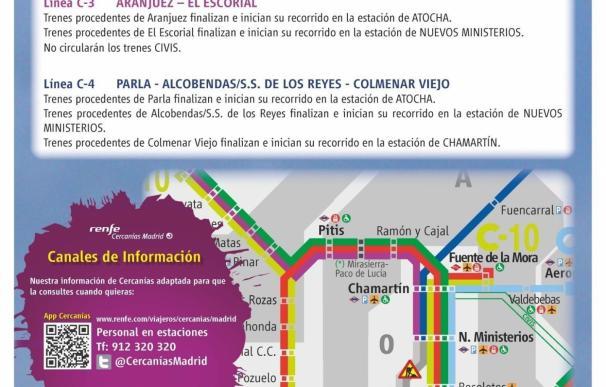 La estación de Cercanías de Sol cerrará desde este sábado al 27 de agosto por obras para mejorar el carril de las vías