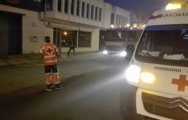 Un incendio provoca daños materiales en las oficinas de un concesionario de coches en Almendralejo (Badajoz)