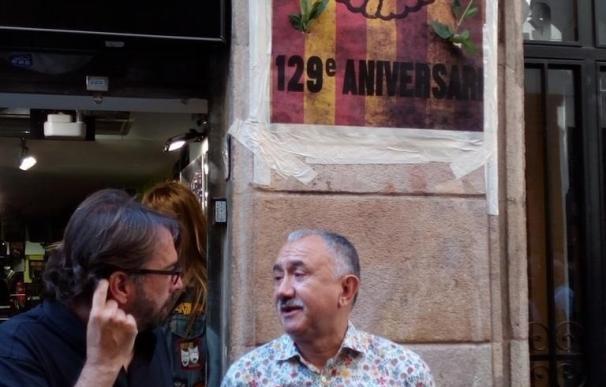 Álvarez (UGT) ve innecesario plantear un laude para resolver la huelga de Eulen en El Prat