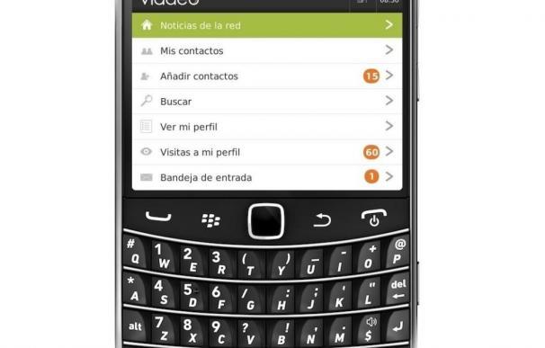 Viadeo lanza una aplicación para integrarse en BlackBerry