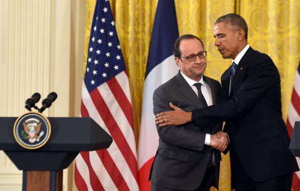 US President Barack Obama and French President Fra