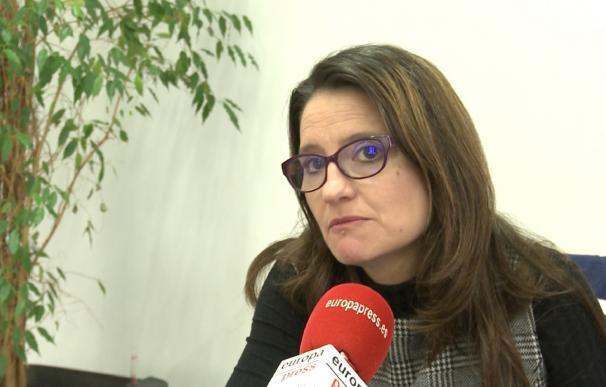 """Oltra, """"contentísima"""" de que Ribó quiera seguir en 2019 porque es """"el alcalde tranquilo que Valencia necesita"""""""