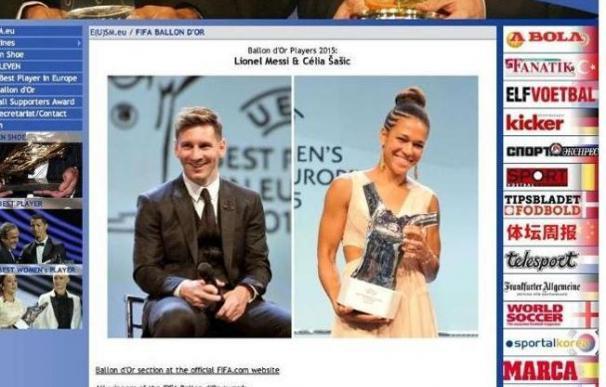 La imagen de la polémica, ¿Messi Balón de Oro de 2015?