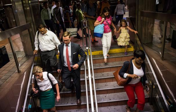 Metro de Nueva York en hora punta