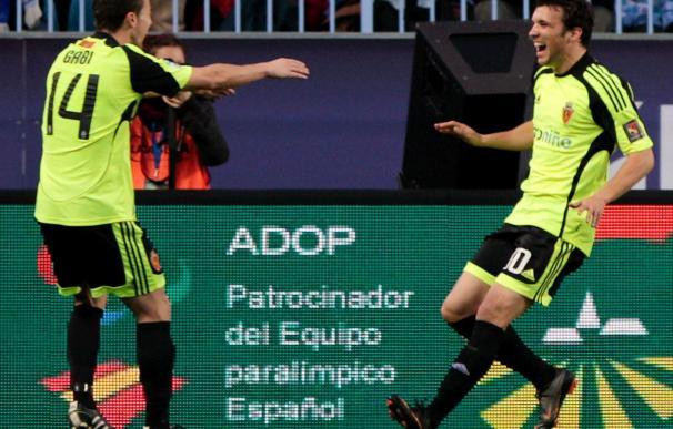 "1-2. El Zaragoza aprovechó la desidia del Málaga y lo deja de ""farolillo rojo"""