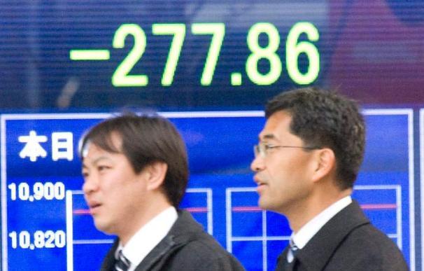 El índice Nikkei sube 2,58 puntos, el 0,02 por ciento, hasta 10.327,86 puntos