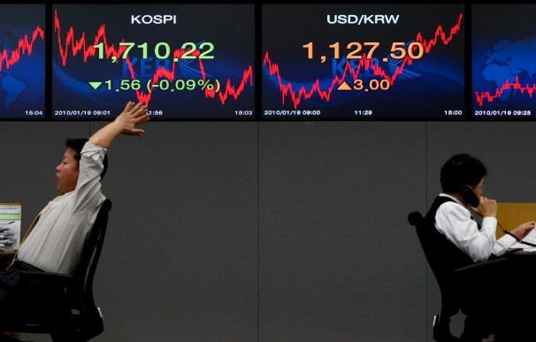 El índice Kospi sube 4,54 puntos, 0,27 por ciento, hasta 1.641,88 puntos