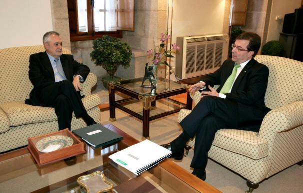 Extremadura y Andalucía firmarán un acuerdo para mejorar la cooperación en varios temas