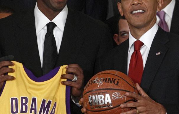 Obama recibe en la Casa Blanca a Los Lakers de Gasol