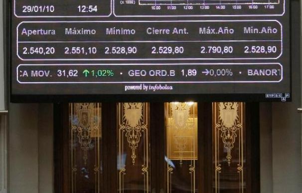 La bolsa española reduce ganancias a mediodía y el Ibex-35 sube el 0,39 por ciento