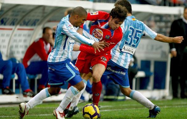 1-0. Un gol del Baha saca al Málaga de los puestos de descenso