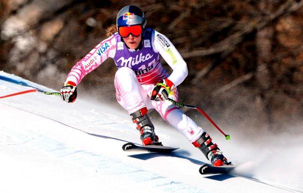 Lindsey Vonn ganó el supergigante de Cortina
