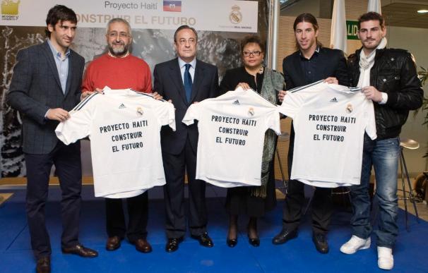 El Real Madrid muestra su cara más solidaria con Haití