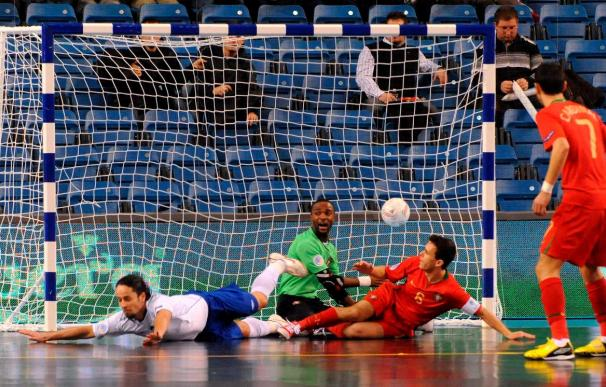 Portugal vence a Azerbayán por penaltis (5-4) en la semifinal del Campeonato de Europa de fútbol sala