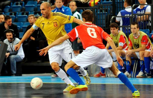 España arrolla a la República Checa (8-1) y se verá con Portugal en la final del Europeo de fútbol sala