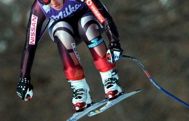 """Carolina Ruiz, que se cayó en St. Moritz, está """"un poco dolorida, pero bien"""""""