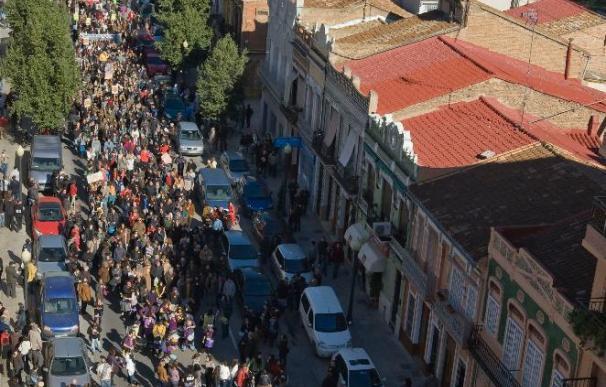 Manifestación masiva contra la prolongación de la Avenida Blasco Ibáñez