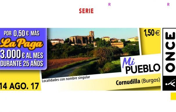La ONCE dedica el cupón del próximo lunes a Cornudilla (Burgos), dentro de la serie 'Mi pueblo'