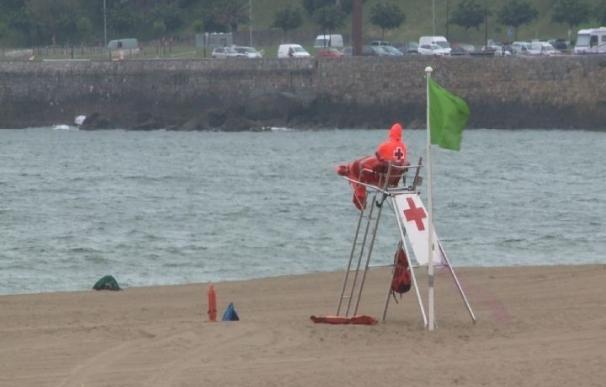 La bandera roja ondea este jueves en nueve playas vizcaínas y en otras diez hay amarilla