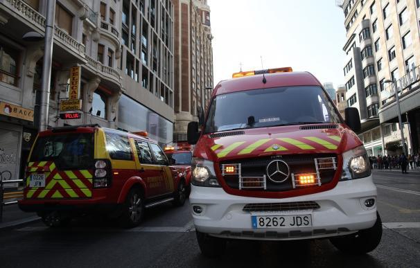 Un incendio en un asentamiento chabolista de Arganzuela calcina dos hectáreas de pasto y deja heridos leves