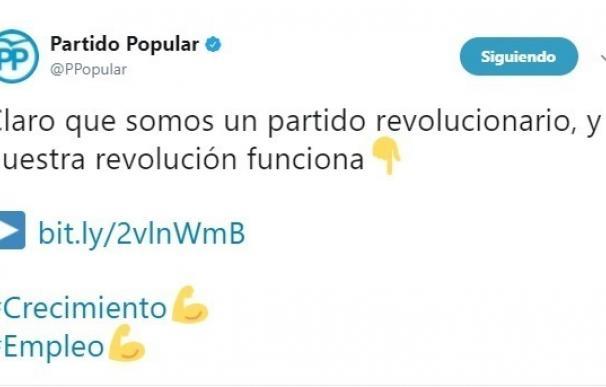 El PP reivindica su espíritu revolucionario recordando un video electoral de 2015 que destacaba la creación de empleo