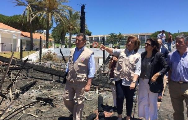 El Parador de Mazagón pone a punto las instalaciones tras los daños del incendio y prevé reabrir este viernes