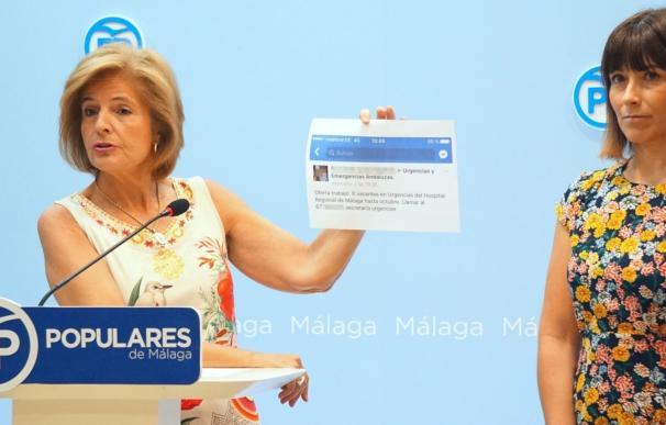 El PP exige al SAS que aclare cuál es la cobertura sanitaria real en Málaga durante este verano