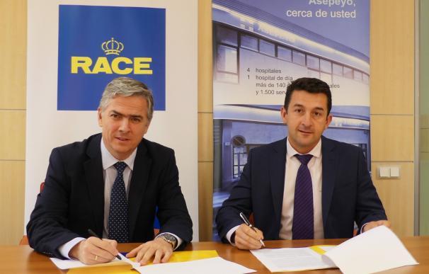 La Mutua Asepeyo y el RACE firman un acuerdo para impulsar la prevención de los riesgos laborales derivados del tráfico