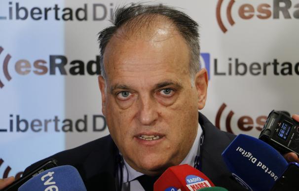 """Tebas: """"Hay que entender esa coacción que pueden tener en Cataluña muchos jugadores catalanes"""""""