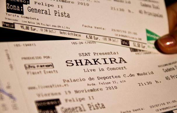 Entrada falsa para el concierto de Shakira en Madrid