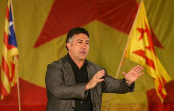 Joan Puigcercós, líder de ERC en un mitin.