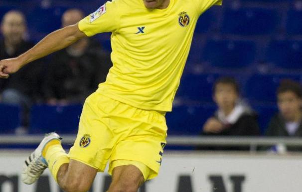 El jugador del Villarreal Marco Ruben, contento por su trabajo tras igualar su mejor marca anotadora