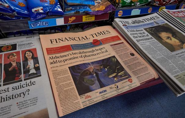 Ejemplares del 'Financial Times'. El diario pasa a formar parte del grupo japonés Nikkei