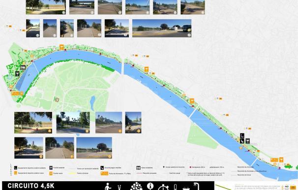 Los cuatro circuitos deportivos diseñados por el IMD en el río y tres parques estrenan señalización propia