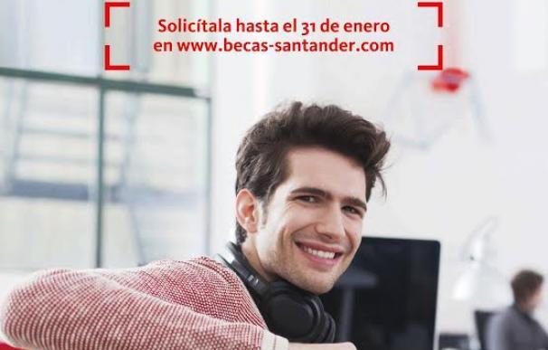 Los universitarios españoles ya pueden solicitar una de las 5.000 becas Santander para pymes