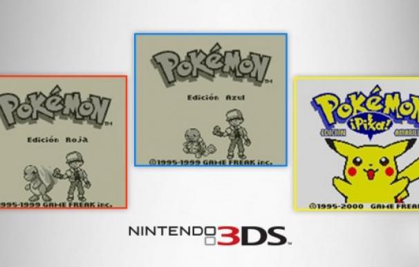 Pokémon Rojo, Azul y Amarrillo volverán a la vida con la Consola Virtual de 3DS